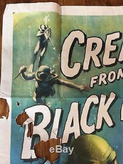 1954 original one sheet CREATURE FROM THE BLACK LAGOON