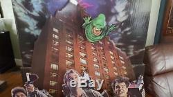 1985 Original 5ft Tall Ghostbusters Video Release Cardboard Standee Complete #WB