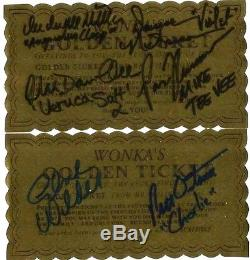 2 Willy Wonka Golden Tickets Signed By Complete Main Cast