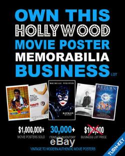 30,000+ Authentic MOVIE POSTERS Lot NEAR TURN-KEY! BUSINESS SUCCESS