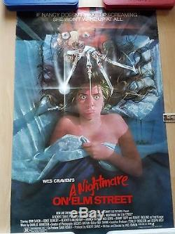 A NIGHTMARE ON ELM STREET ORIGINAL 1984 27x41 ONE-SHEET ROLLED