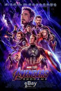 Avengers Endgame 27x40 Original Theater Double Sided Movie Poster Final 2019