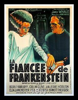 BRIDE OF FRANKENSTEIN CineMasterpieces ONLY ONE KNOWN FRENCH MOVIE POSTER 1935