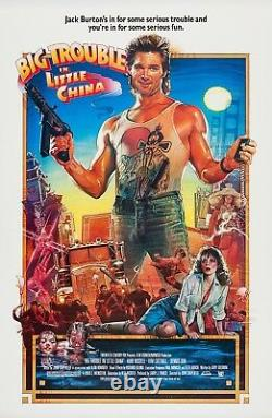 Big Trouble In Little China (1986) Original Movie Poster Rolled Drew Art