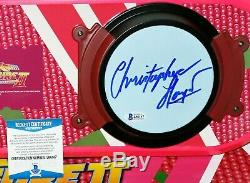 Christopher Lloyd Back To The Future 2 Doc autograph Hoverboard BAS Beckett PSA