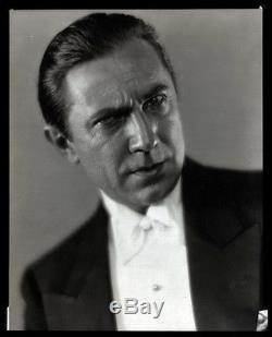 Classic Horror Icon Bela Lugosi Original 1932 Gothic Camera Negative 8x10 Eerie