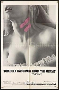 DRACULA HAS RISEN FROM THE GRAVE 1969 U. S. 1sh Excellent condition Hammer horror