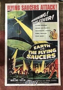 Earth Vs The Flying Saucers Original One Sheet