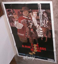 FOR A FEW DOLLARS MORE original 27x41 one sheet movie poster CLINT EASTWOOD