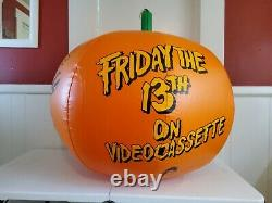 FRIDAY THE 13TH 1988 Movie Promo Inflatable Pumpkin Video Store Display HUGE 35