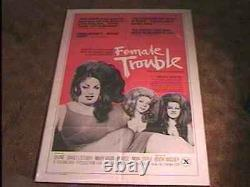 Female Trouble 1975 Movie Poster John Waters Ultra Rare