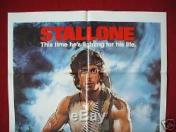 First Blood 1982 Original Movie Poster 1sh Rambo Sylvester Stallone Unused Nm