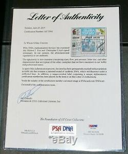 Framed Michael J Fox Christopher Lloyd Signed Back To The Future USA Today PSA
