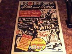 Freaks Roadshow Movie Poster 1954 Tod Browning Spook Show Super Rare