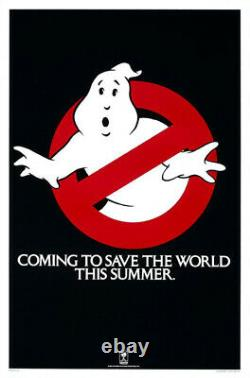 Ghostbusters (1984) Movie Poster Advance Teaser, Original, SS, Unused NM, Rolled