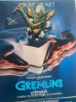 Gremlins Video Store Display VHS Standee Speilberg Rare HTF 1985 Bright Colors