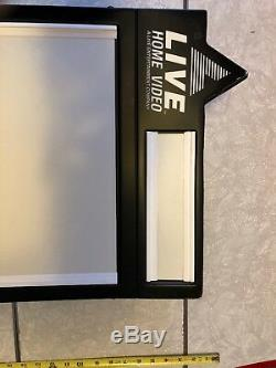 LIVE HOME VIDEO Video Store Lighted Marquee Display 31 x 14 Faux VHS