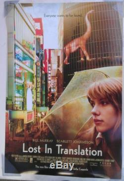 LOST IN TRANSLATION MOVIE POSTER 2 Sided RARE ORIGINAL FINAL SCARLETT 27x40