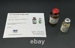 LOST TV Screen Used Prop Dharma Rx-1 Vaccine Bottles With COA