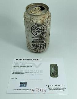 LOST TV Show Screen Used Prop Dharma Initiative Distressed Beer Can With COA