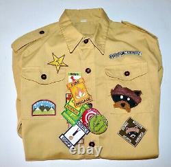 Moonrise Kingdom Wes Anderson Screen Used Khaki Scout Uniform Shirt + Patches