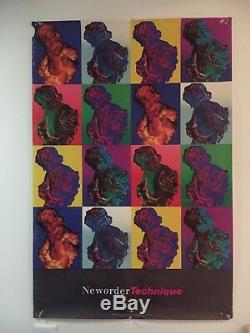 New Order Vintage Poster Used 24 X 36 substance Joy division Technique trance