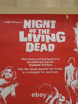 Night Of The Living Dead Original Poster One Sheet George Romero Horror Cult