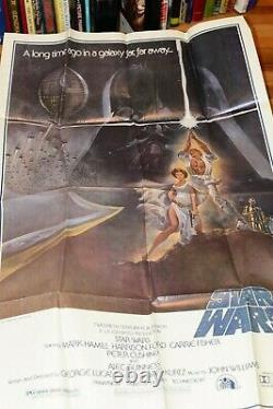 ORIGINAL 1977 STAR WARS 1st PRINTING ONE SHEET POSTER STYLE A 77/21