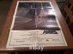 ORIGINAL 1977 STAR WARS ONE SHEET MOVIE POSTER 27 X 41 STYLE A 77/21! UNUSED
