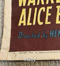ORIGINAL ON LINEN 1 sheet movie poster 1936 signed by MAE WEST GO WEST YOUNG MAN