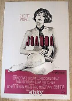 Once Upon a Time. In Hollywood Production Used Prop Joanna Movie Poster! RARE