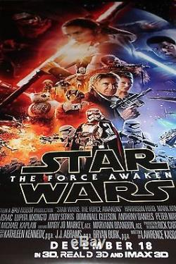 Original 27x40 Double Sided Theater Poster STAR WARS THE FORCE AWAKENS