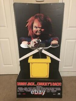 Original Chucky Childs Play Standee Vintage Rare Deadstock Movie Theatre Horror