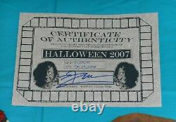 Original ROB ZOMBIE'S HALLOWEEN (2007) MASKS 7 8 9 screen-used movie prop withCOA