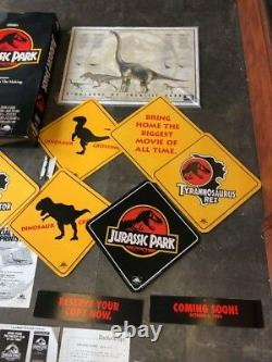 Original Vintage 1993 Jurassic Park Pre Sell Kit Movie Signs Posters VHS Sales