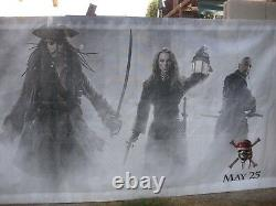 PIRATES OF THE CARIBBEAN AT WORLD'S END 2007 Original 6X16' Theater Lobby Banner