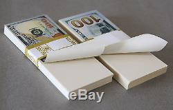 PROP MONEY New Style Blank Filler Bundles $50,000 for Movie, TV, Videos, Novelty