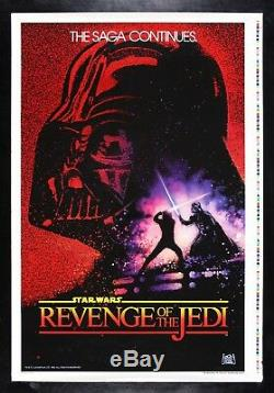 REVENGE OF THE JEDI CineMasterpieces PRINTER'S PROOF MOVIE POSTER STAR WARS