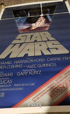 ROLLED! STAR WARS 1982 Original Movie Poster 27x41 Revenge of The Jedi Banner