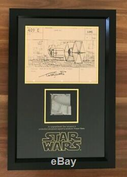 STAR WARS IV A New Hope Screen Used Prop Death Star Piece & Signed Storyboard