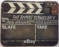 STAR WARS THE EMPIRE STRIKES BACK PRODUCTION SCREEN USED CLAPPERBOARD