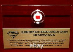 Screen-Used SUPERMAN CAPE piece! Real CAPE Artifact in CASE, FRAME, PLAQUE, COA