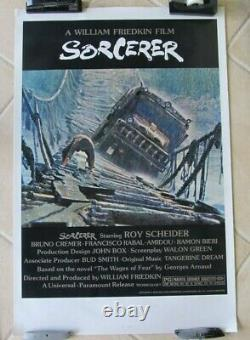 Sorcerer Original Rolled 27x41 Theatrical One Sheet Movie Poster 1977 Near Mint