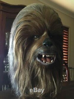 Star Wars Chewbacca Prop Life Size 11 Head Bust ULTRA RARE