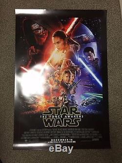 Star Wars The Force Awakens ORIGINAL Double Sided 27x40 Theatrical Movie Poster