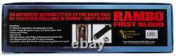Sylvester Stallone Signed Authentic Rambo First Blood Knife BAS