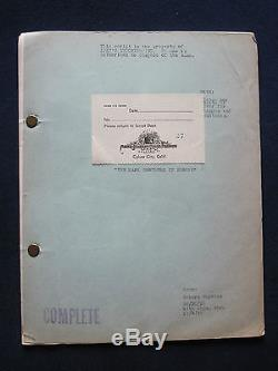THE MARX BROTHERS IN EUROPE Original Script Treatment Unproduced Feature Film
