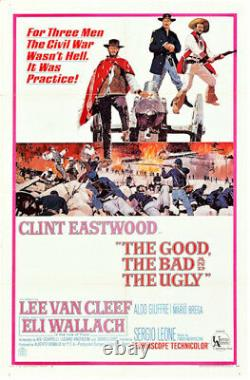 The Good, The Bad And Ugly Vintage Movie Poster Clint Eastwood