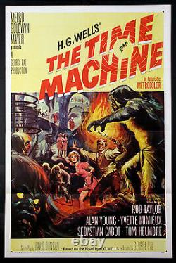The Time Machine Rod Taylor H. G. Wells Sci-fi 1960 1-sheet