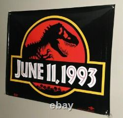 VERY RARE Original Jurassic Park Advance PROMO Banner 1993